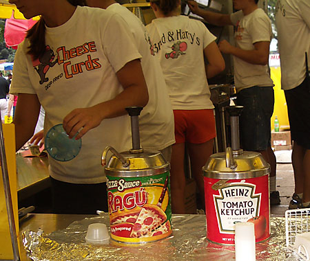 Condiments at the Iowa State Fair