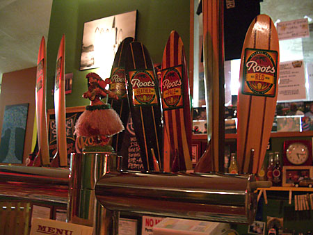 Several Beers on Tap at Roots Brewing