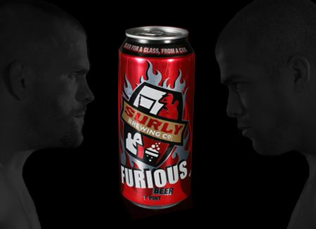 Drinking Furious Beer from Surly Brewing while Watching UFC 66