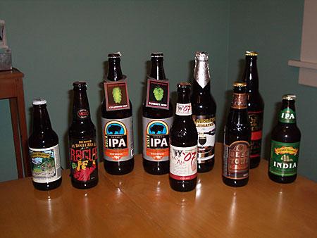 Birthday Beers including Stone Old Guardian Barleywine 2007