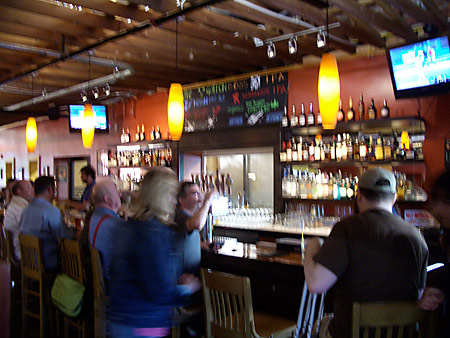 Laurelwood's Bar is Long and Loud. That
