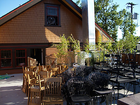 Laurelwood's Patio is near completion.