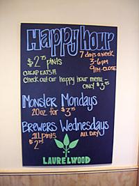 Laurelwood's Specials Board