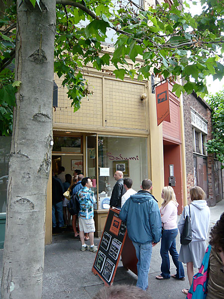 The Long Line Waiting Outside Seattle's Salumi Restaurant