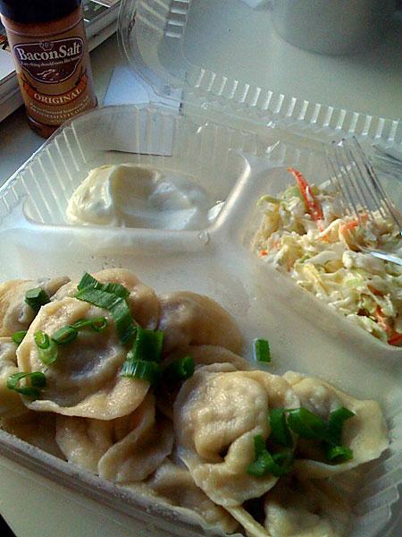 Dumplings Before Bacon Salt