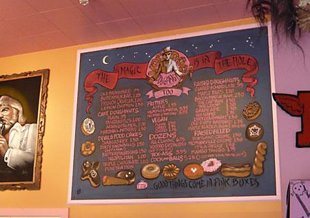 Chalkboard Menu of Voodoo Too