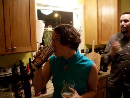 Amanda Drinking Camo Malt Liquor