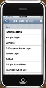 BJCP app for the iPhone