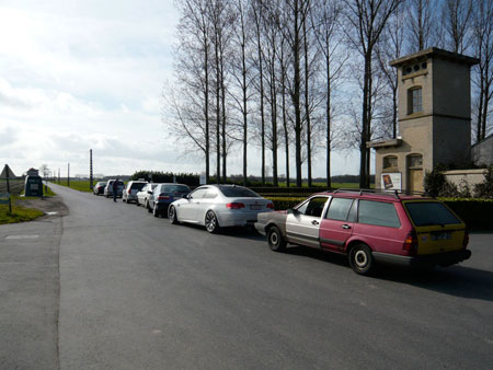 Cars Waiting in Line for Beer at Sint Sixtus Monastery in Westvleteren