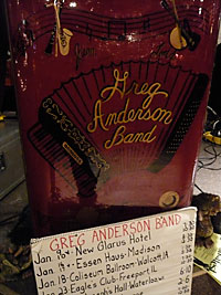 The Greg Anderson Band, house band at the Essen Haus