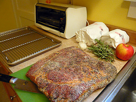 Slab O'Bacon, Stuffing elements.